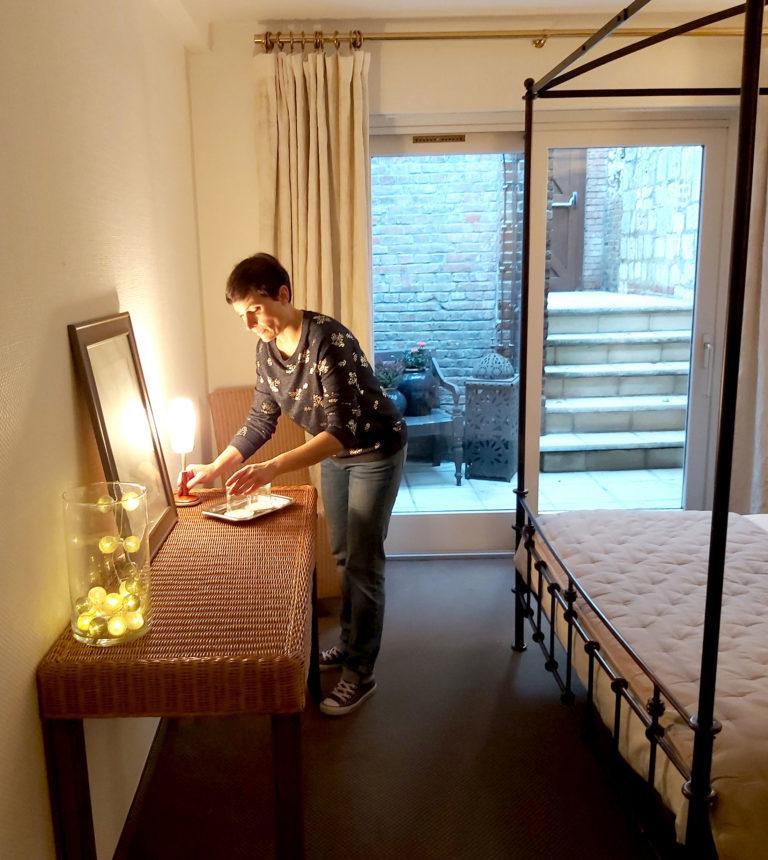 Hôtel Jean de Bruges St Riquier : mise en valeur des chambres, Aménagement et décoration de chambre