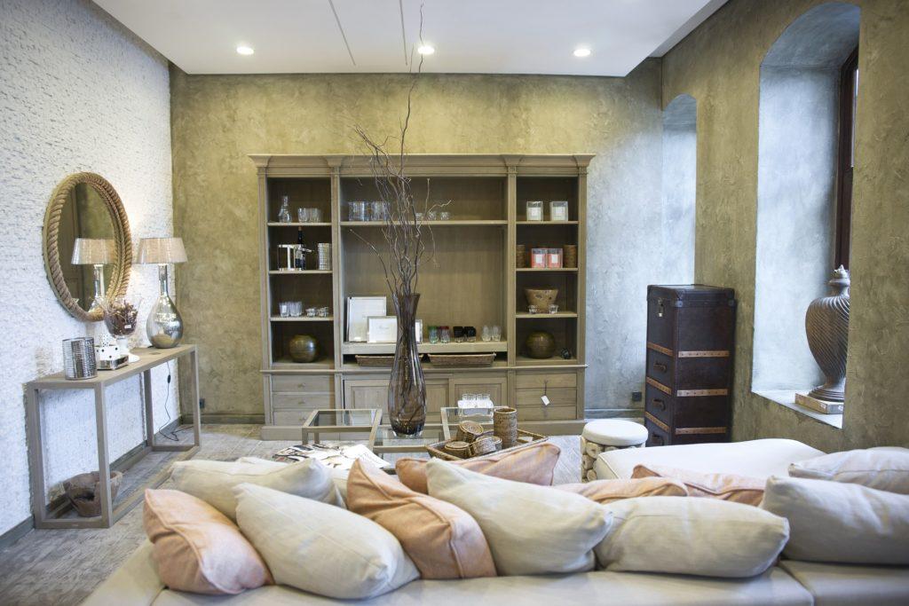 salon cosy et chaleureux