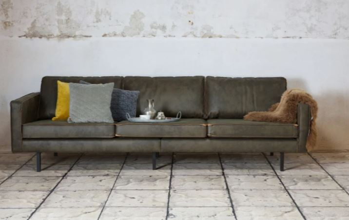 Canapé kaki pour déco intérieure naturelle